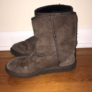 Dark Brown Fuzzy Classic Short Size 5 Ugg Boots